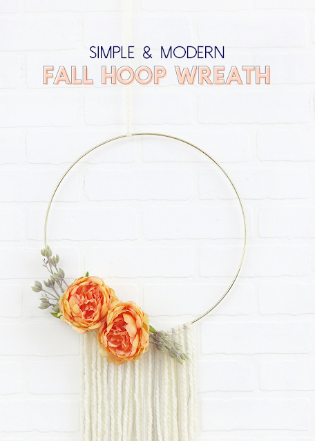 simple and modern fall wreath