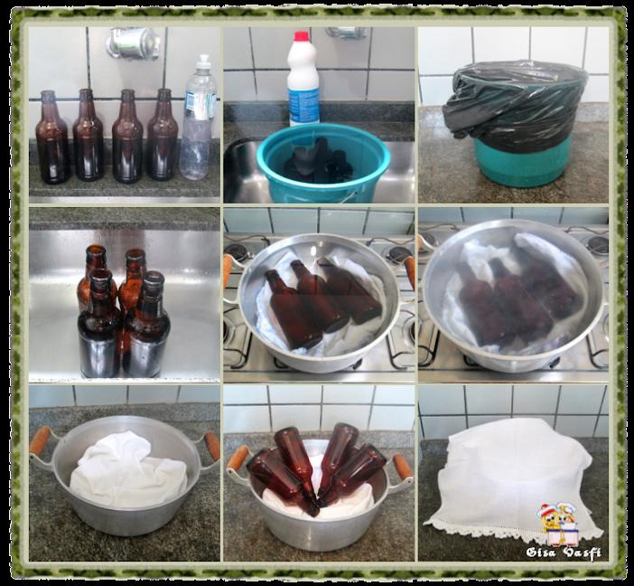 Esterelizando garrafas de cerveja 2