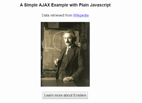 An Example of AJAX with Vanilla Javascript