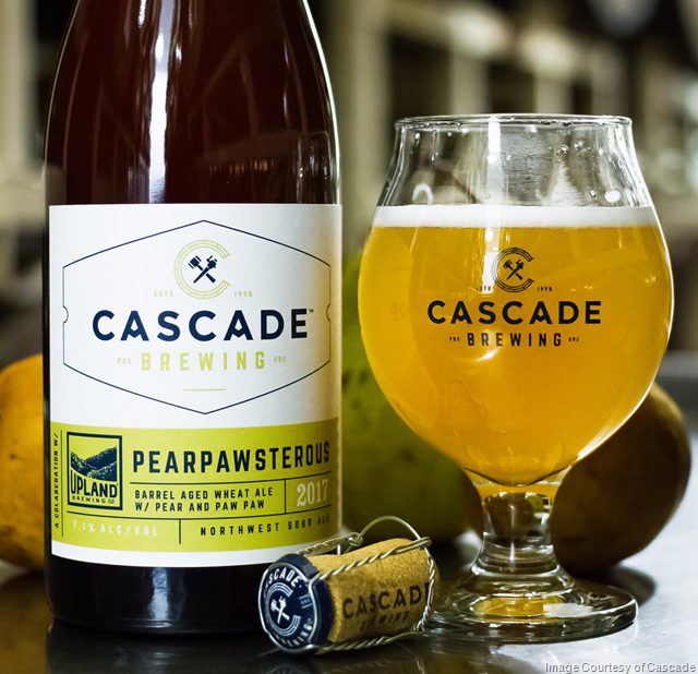 Cascade Brewing releases Pearpawsterous Collaboration Project with Upland Brewing