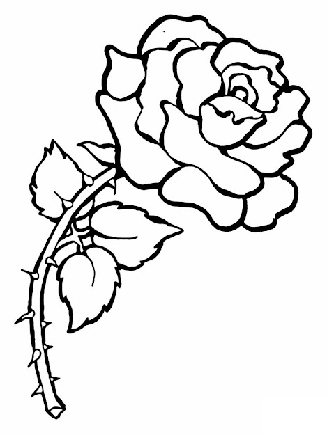 Free Printable Roses Coloring Pages For Kids For Coloring Pages Draw Rose  For Kids Coloring