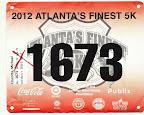ATC Atlanta's Finest 5K, Mike's race bib