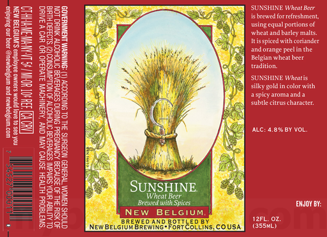 New Belgium - Sunshine Wheat Retro Packaging