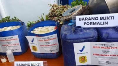 20 Ribu Tahu Berformalin di Palembang Diamankan, Pemilik Usaha Ditangkap