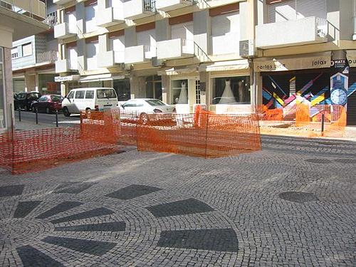 Obras na rua coronel Andrada Mendoça
