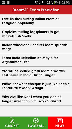 Dream11 Team Prediction 1.0 screenshots 6