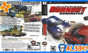 تحميل لعبة السيارات Burnout Dominator psp iso مضغوطة لمحاكي ppsspp