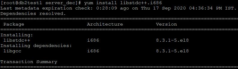 yum install libstdc++.i686