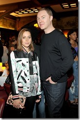 HOLLYWOOD, CA - MARCH 30:  Actor Aubrey Plaza (L) and Coach Creative Director Stuart Vevers attends the Coach & Rodarte celebration for their Spring 2017 Collaboration at Musso & Frank on March 30, 2017 in Hollywood, California  (Photo by Donato Sardella/Getty Images for Coach)