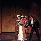 Christine Boice Saplin, Eileen McCashion, Rita Russell and Colin McCarty in ON THE VERGE - January/February 2000.  Property of The Schenectady Civic Players Theater Archive.
