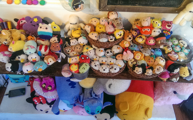 photo of lots of little stuffed character dolls