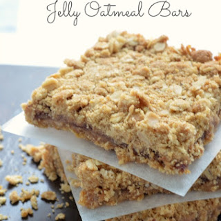 Peanut Butter & Jelly Oatmeal Bars.