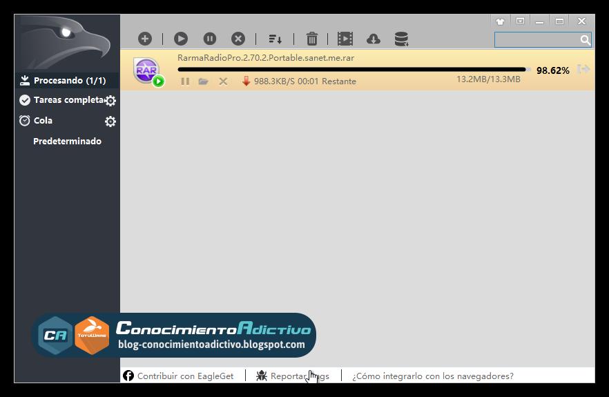 EagleGet Downloader [Freeware] · Gestor de descargas con ...