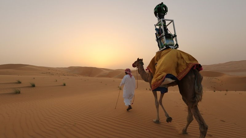 google used camels for desert street view