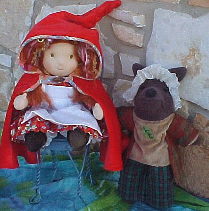 Red Riding Hood and Wolfie - Custom Order