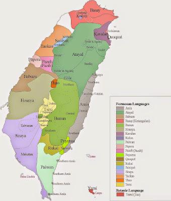 taiwan aborigines region map