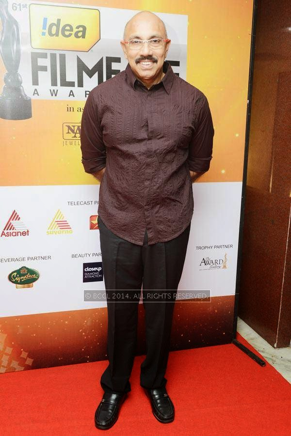 Satyaraj attends the 61st Idea Filmfare Awards South, held at Jawaharlal Nehru Stadium in Chennai, on July 12, 2014.