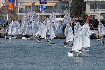 voile optimist régate interligue carnon mars 2012 YCMC