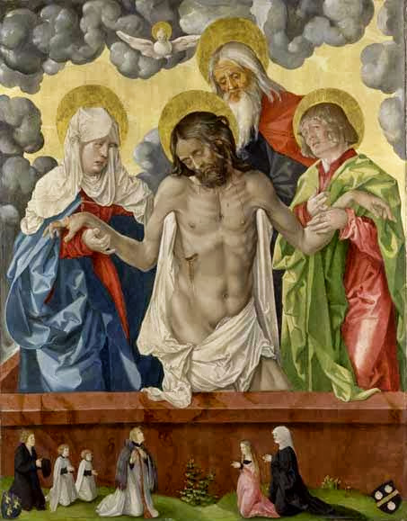 Hans Baldung - The Trinity and Mystic Pieta
