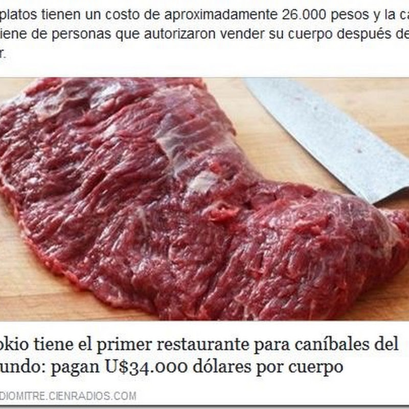 Tokio inaugura el primer restaurante canibal