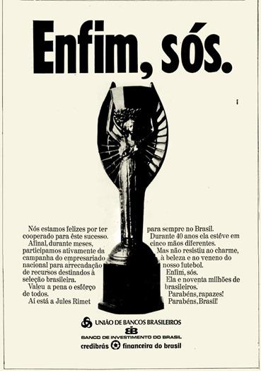 anuncio União de Bancos Brasileiros - 1970