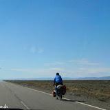 Biker solitário, rumo a El Calafate, Argentina