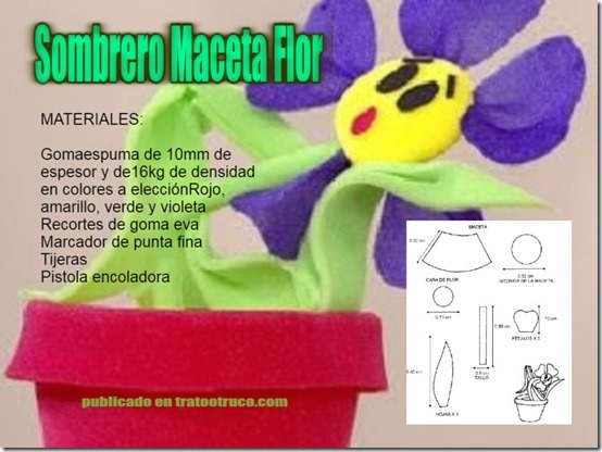 sombrero maceta flor  2