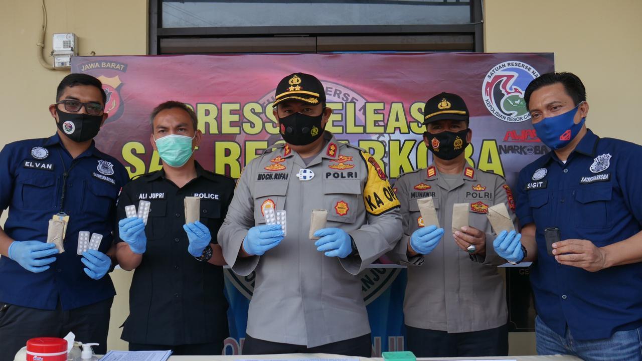 Sat Narkoba Polres Cianjur Polda Jabar Berhasil Mengungkap Kasus Penyalahgunaan Narkoba