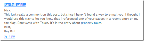 timestamp of comment posted on Nick Szabo blog post