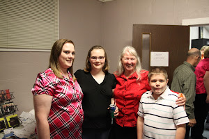 Momma Templet with her great nieces and nephew, Amy, Ashley and Trevor.