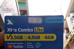 Cara Memasukkan Voucher XL XTRA COMBO LITE