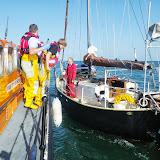 Poole ALB coming alongside a broken-down yacht in Studland Bay. 22 August 2013 Photo: RNLI/Anne Millman