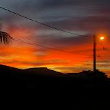 Coucher de soleil sur le village de Kaw (Guyane). 18 novembre 2011. Photo : J.-M. Gayman