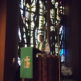 Pastor Doug with his Scout Sunday Sermon