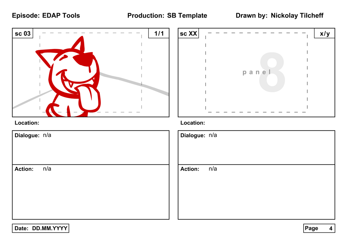 The edap tools storyboard template free download electric dog then the storyboard can be converted to animatic in literally 5 clicks saigontimesfo
