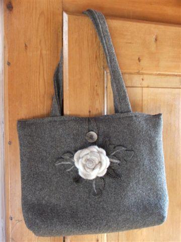 modelli borse lana cotta