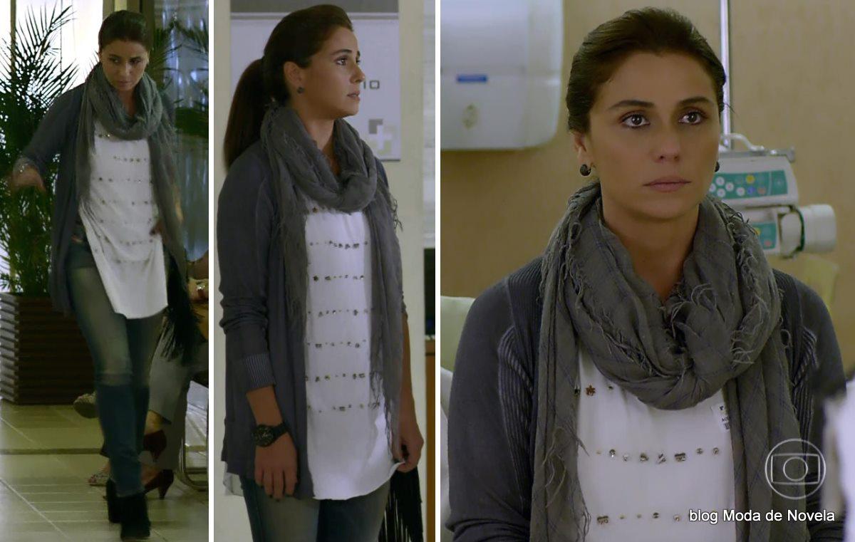 moda da novela Em Família - look da Clara dia 3 de maio