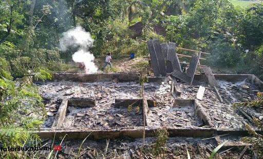 Rumah Warga Bantargadung Hangus Dilalap Api
