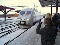 och äntligen kom tåget!