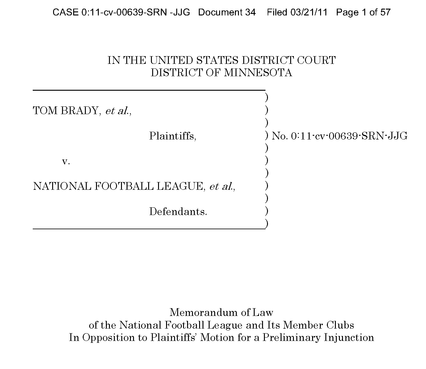 Offside Sports Law: Quick Legal Breakdown: NFL Attempts To Block ...