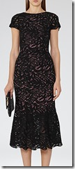 Reiss Black Lace Midi Dress