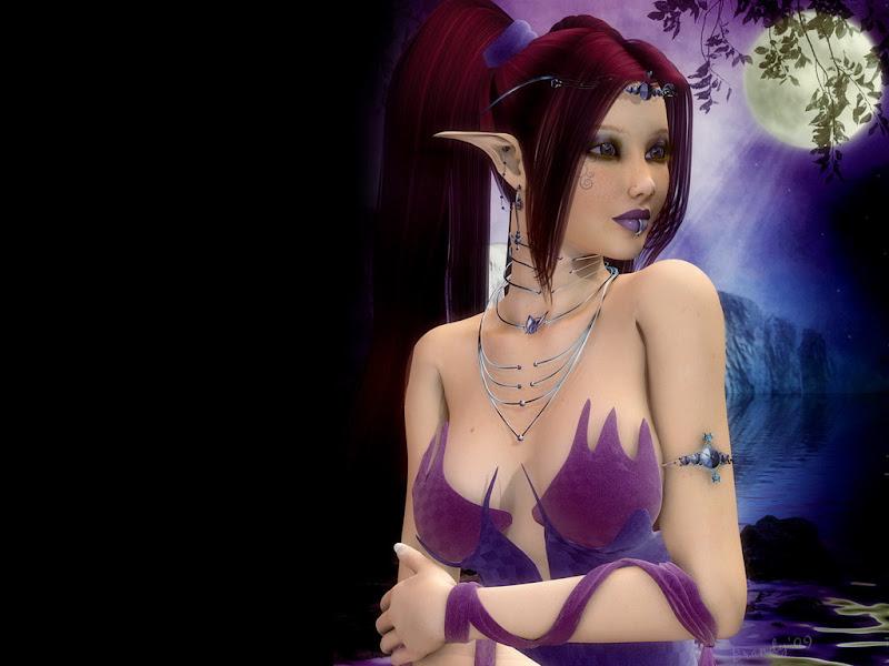 Moon And Elven Beauty, Moon Magic