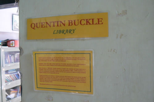 Humsafar drop-in center Quentin Buckle library.