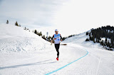CASTIGLIONI RENAUD en tête de la course  ©Office de Tourisme du Val d'Arly
