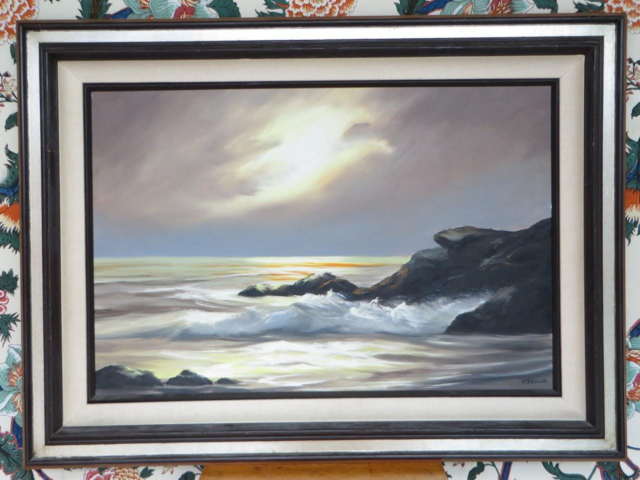 L.Y. Wistler Seascape Painting