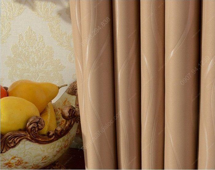 Rèm cửa hà nội giá rẻ một màu tráng cao su vàng 6