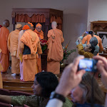 Day 2 Swamijis offering flower in New Temple Shirne