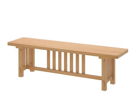 Cordoba Bench in Ginger Maple