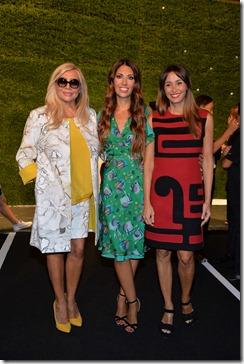 Lavinia Biagiotti con Mara Vanier e Benedetta Parodi