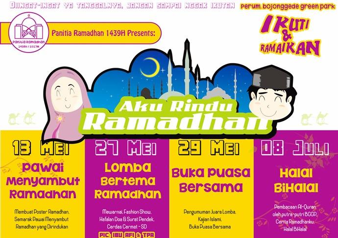 Rangkaian Kegiatan Ramadhan Di Bggp Catat Tanggalnya Ya Perum
